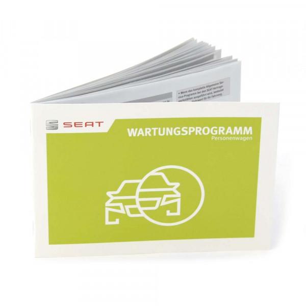 Original Seat Wartungsbuch Inspektion Service Heft Scheckheft Wartungsprogramm
