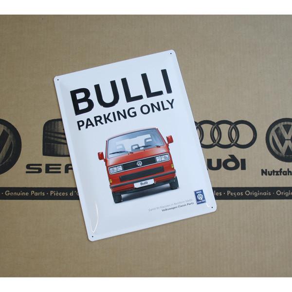 Original VW Blechschild Bulli Parking Only Accessoires Lifestyle Schild 30 x 40 cm