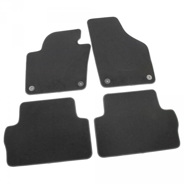 Original Seat Alhambra (7N) Textil Fußmatten Satz v+h Velours Matten schwarz