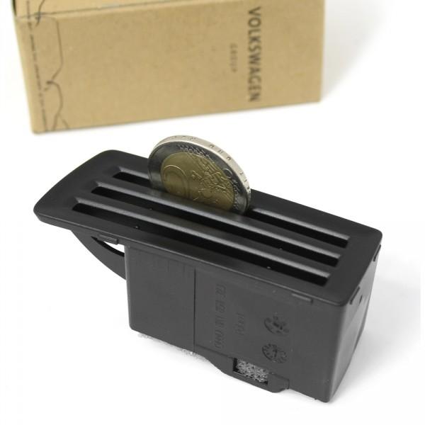 Original Audi Münzbox Mittelkonsole Münzhalter Ablage Box Kartenhalter schwarz