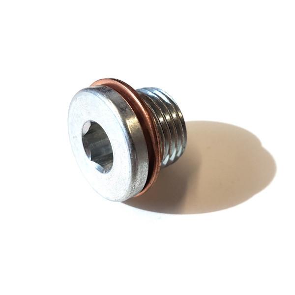 Original Skoda Verschlusschraube Ölablassschraube N0160281 Dichtring N0138481