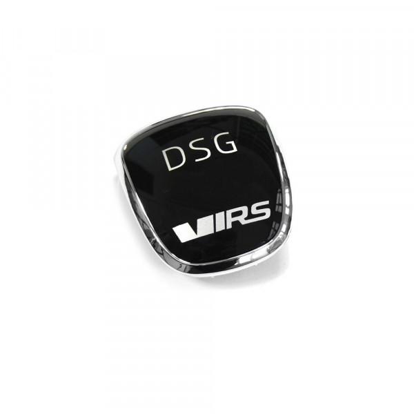 Original Skoda RS Plakette Schaltknauf DSG Blende Clip chrom schwarz