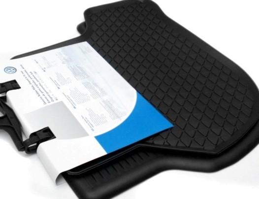 Golf 6 PLUS Original Gummi Fußmatten hinten 5M0061512 82V schwarz