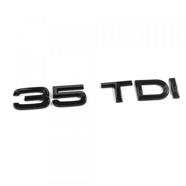 Original Audi 35 TDI Schriftzug schwarz Tuning Exclusive Black Edition Heckklappe Emblem