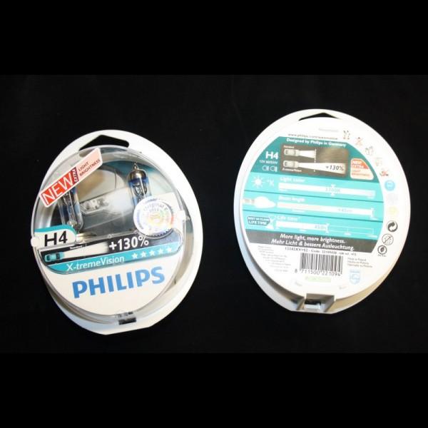 Glühlampe X-treme Power H4 Original VW Audi universal Philips 130% X-treme Vision