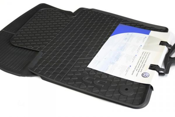 Allwettermatten vorn Original VW Passat CC Gummi Fußmatten schwarz Gummimatten