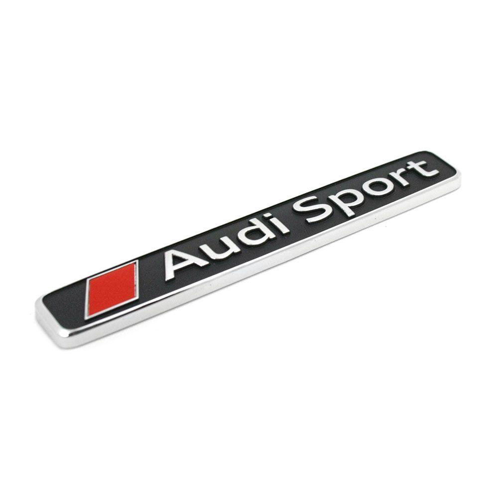 original audi sport schriftzug exterieur emblem logo. Black Bedroom Furniture Sets. Home Design Ideas