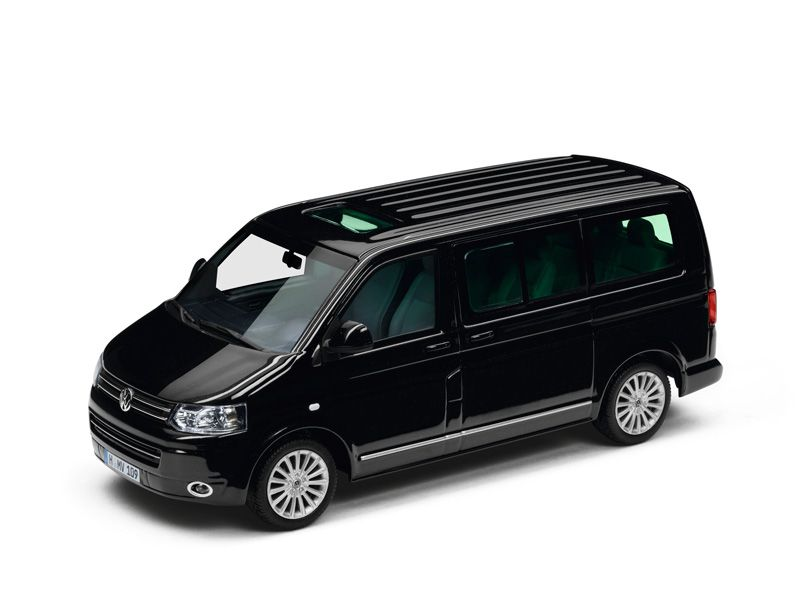 modellauto 1 43 original vw t5 multivan schwarz ebay. Black Bedroom Furniture Sets. Home Design Ideas
